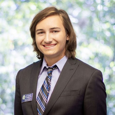 Ethan Fabian ('21)'s headshot for his position as Junior Civitan International President.