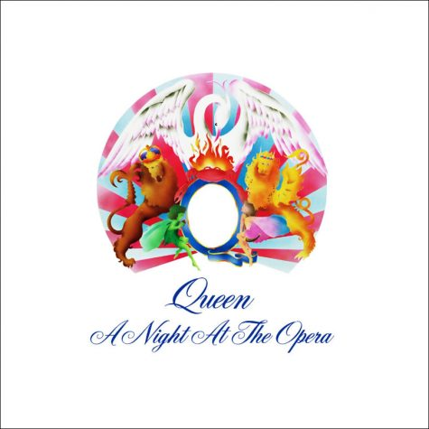 The album cover for Queen's A Night at the Opera.