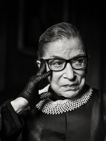 A headshot of Ginsburg during her time as a Supreme Court Justice.