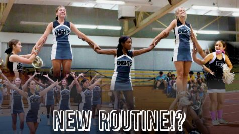 Snapshots from the cheer team