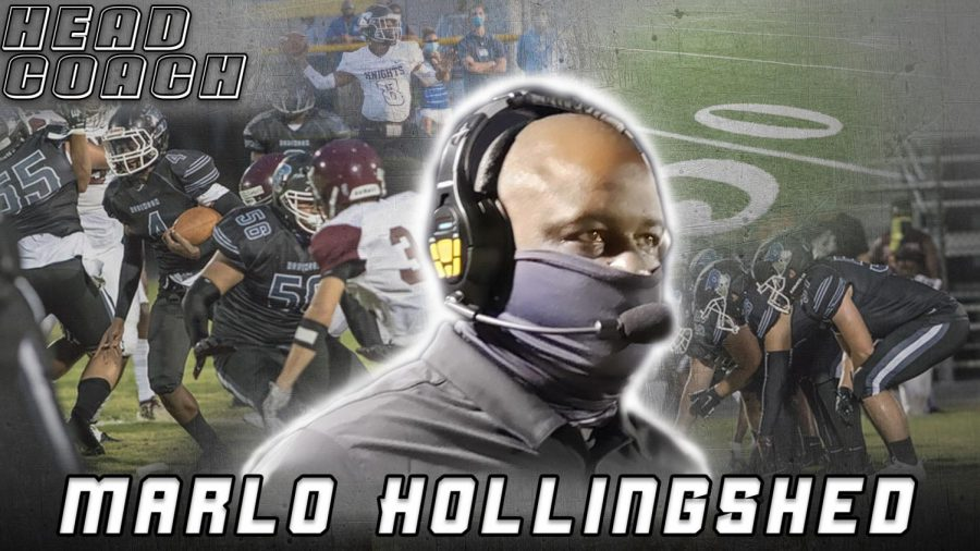 Graphic of clips showcasing Hollingshed's career.