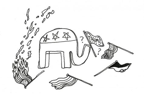 Illustration depicting the GOP, whose reputation has changed from past years.