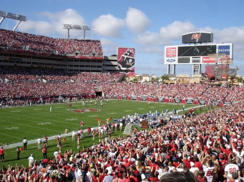 Fans gather at Raymond James Stadium to watch a game in this pre-COVID shot.