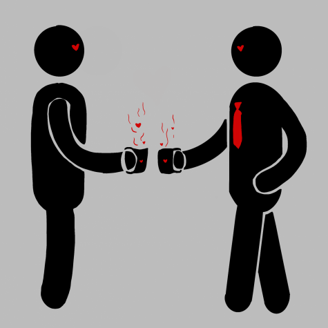 Illustration depicting a couple working together.