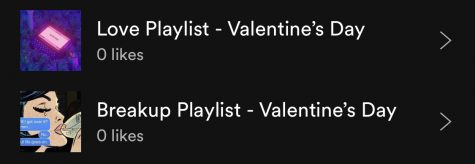 Breakup VS. love playlists for Valentine