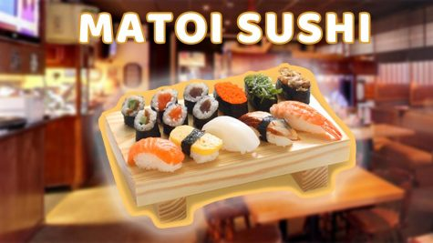 Graphic depicting Matoi Sushi.