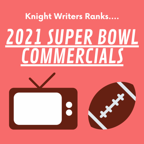 Graphic illustration depicting a television and football, symbols of the 2021 Super Bowl commercials.