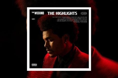 The promotional poster featuring the album cover for The Highlights.  The Highlights arrived just before The Weeknd is set to perform his highly-anticipated Super Bowl LV halftime performance on February 7 and after the announcement of his 2022 tour.