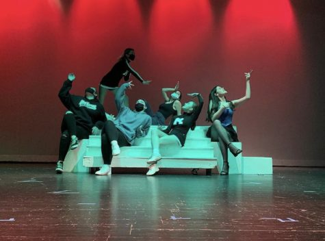Complete with props, Troupe 2660 practices for their upcoming performances amidst COVID-19 restrictions.