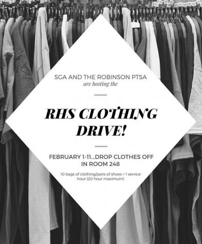 The Student Government and Parent Teacher Student Association team up to host the RHS clothing drive.