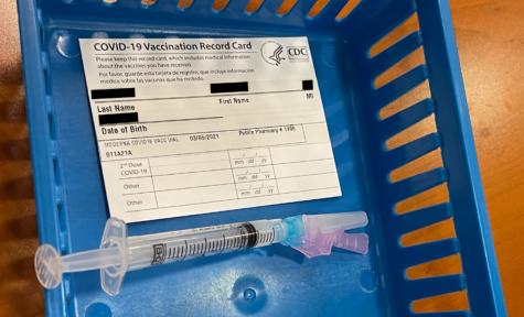 A COVID-19 vaccine ready to be administered at a Pubilx pharmacy, where vaccination appointments are being accepted for teachers over 50.