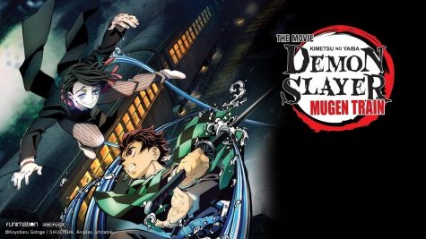 Promotional image based off of the poster released when it was announced after episode 26 aired. The poster features Tanjiro Kamdo and the newly introduced demon, Enmu.