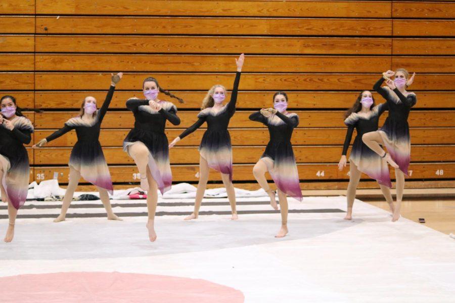 The Starlets perform during the 2020 winter guard season.