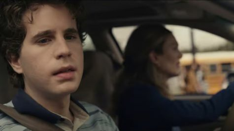 """Universal Studios released still images of the """"Dear Evan Hansen"""" movie when the trailer dropped. Ben Platt, as 17-year-old Evan Hansen, sits in a car with Julianne Moore, who plays Evan"""