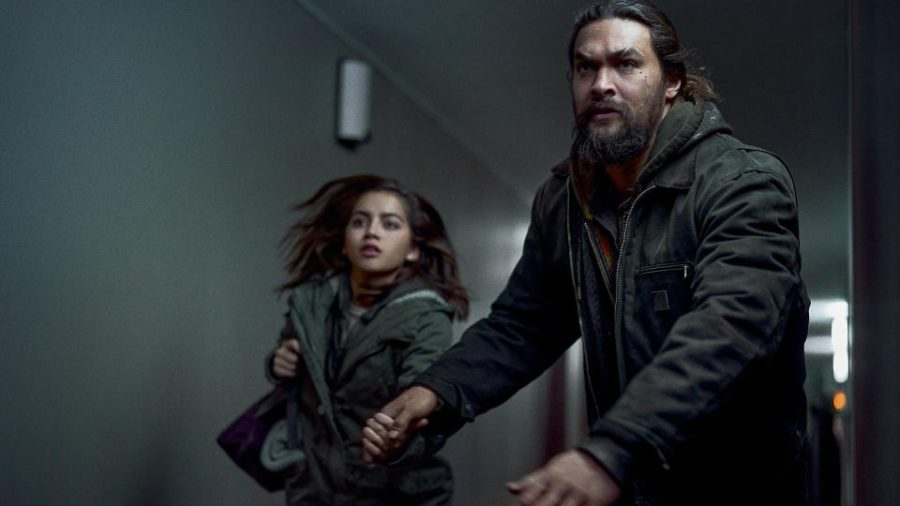 """A still from the movie """"Sweet Girl"""" starring Jason Momoa"""