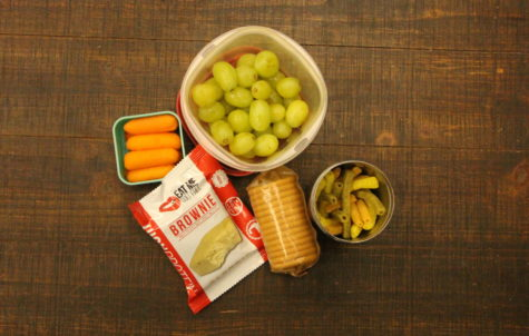 A display of some of the snacks listed. Healthy options to energize you and get you through your day.